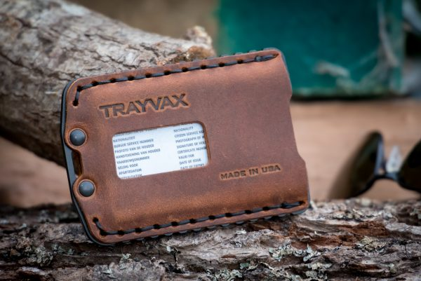 Trayvax Ascent Black / Tobacco Brown outdoor portemonnee